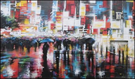 Rainy night in Camden Street art